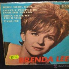 Discos de vinilo: BRENDA LEE - RIDE RIDE RIDE + 3 - EP. Lote 46203909