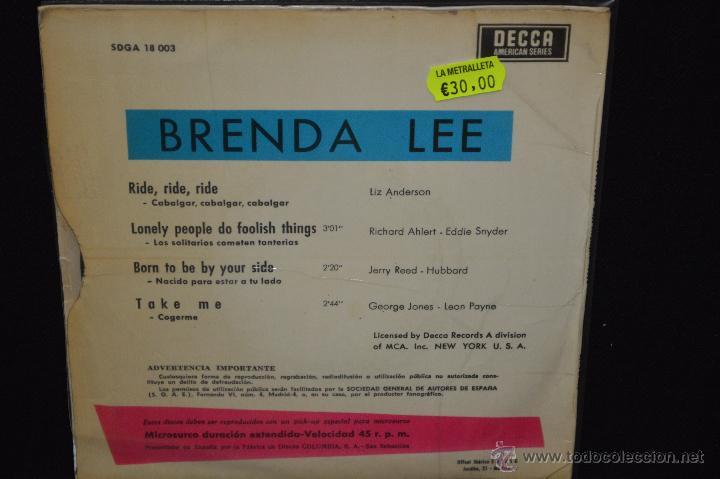 Discos de vinilo: BRENDA LEE - RIDE RIDE RIDE + 3 - EP - Foto 2 - 46203909