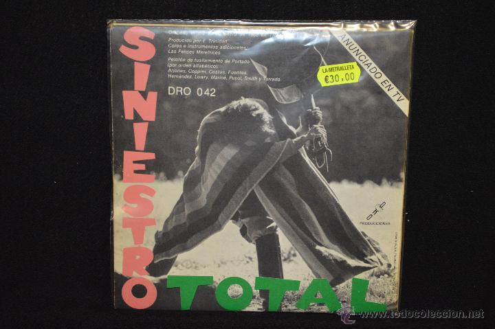 Discos de vinilo: SINIESTRO TOTAL - SEXO CHUNGO / ME PICA UN HUEVO - SINGLE GATEFOLD - Foto 2 - 46204041