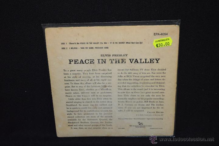 Discos de vinilo: ELVIS PRESLEY - PEACE IN THE VALLEY - EP - Foto 2 - 46205965