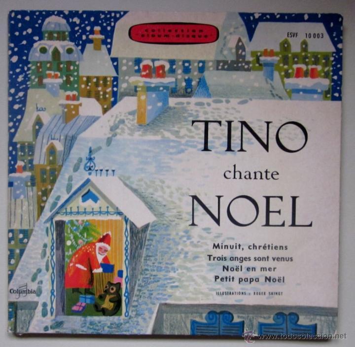 TINO CHANTE NOEL - DISCO LIBRO CON PARTITURAS Y LETRAS (Música - Discos de Vinilo - EPs - Otros estilos)