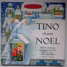 Discos de vinilo: TINO CHANTE NOEL - DISCO LIBRO CON PARTITURAS Y LETRAS . Lote 46207896