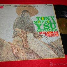 Discos de vinilo: TONY MOTTOLA Y SU GUITARRA MELODIAS HISPANOAMERICANAS LP 1965 HISPAVOX ESPAÑA SPAIN GATEFOLD. Lote 46216517