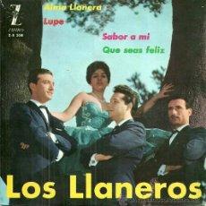 Discos de vinilo: LOS LLANEROS EP SELLO ZAFIRO AÑO 1962. Lote 46244590