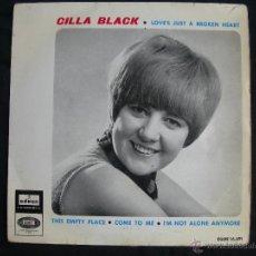Discos de vinilo: CILLA BLACK // LOVE´S JUST BROKEN HEART +3. Lote 46253830