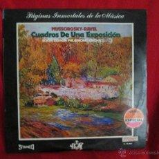 Discos de vinilo: MUSSORGSKY - RAVEL. CUADROS DE UNA EXPOSICIÓN. Lote 46254117