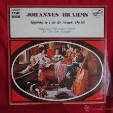 Discos de vinilo: JOHANNES BRAHMS. SINFONIA Nº 1 EN DO MENOR OP 68. Lote 46254305