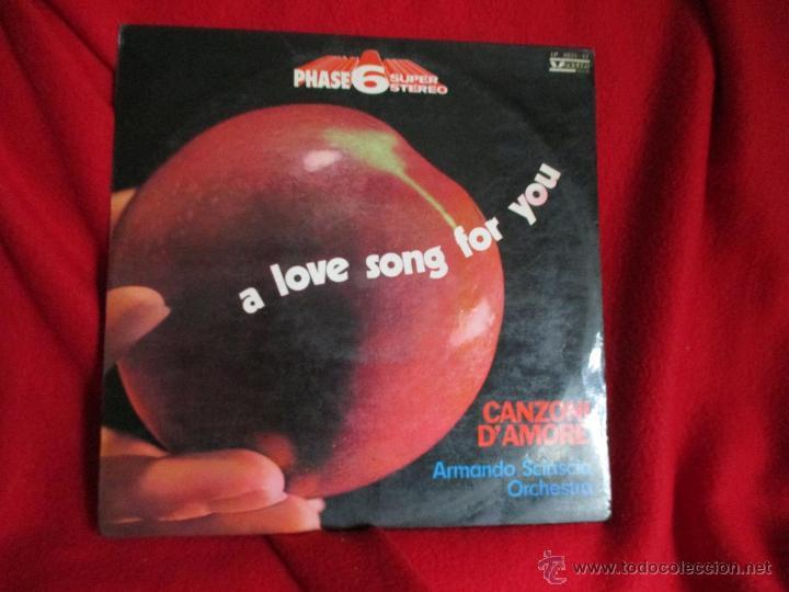 ARMANDO SCIASCIA ORCHESTRA (CANZONI D´AMOMORE - MOURIR D´AIMER - RE) (Música - Discos de Vinilo - EPs - Canción Francesa e Italiana)