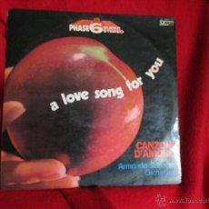 Discos de vinilo: ARMANDO SCIASCIA ORCHESTRA (CANZONI D´AMOMORE - MOURIR D´AIMER - RE). Lote 46254640
