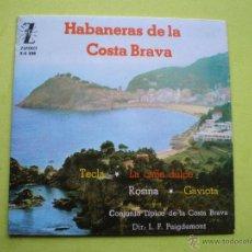 Discos de vinilo: EL NOI DE PALAFRUGELL - HABANERAS DE LA COSTA BRAVA - EP ZAFIRO 1962. Lote 226273420