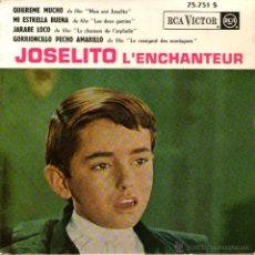 Discos de vinilo: JOSELITO - EP SINGLE VINILO 7'' - EDITADO EN FRANCIA - QUIÉREME MUCHO + 3 - RCA VICTOR 1963. Lote 46267153