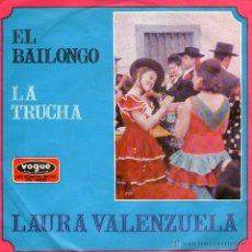 """Discos de vinilo: LAURA VALENZUELA - SINGLE VINILO 7"""" - EDITADO EN ALEMANIA - EL BAILONGO + LA TRUCHA - VOGUE 1969. Lote 46269118"""