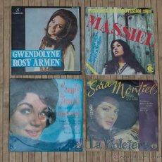 Discos de vinilo: LOTE DE 2 SINGLES + 2 EPS. . Lote 46271201