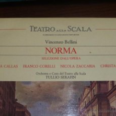 Discos de vinilo: DISCO DE VINILO VINCENZO BELLINI, NORMA, INTERPRETAN MARIA CALLAS, FRNACO CORELLI, NICOLA ZACCARIA... Lote 46286203