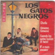 Discos de vinilo: LOS GATOS NEGROS EP 1963. Lote 46289734
