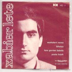 Discos de vinilo: XABIER LETE - EUSKALERRI NEREA + 3 (EP HERRI GOGOA 1968). Lote 46292797