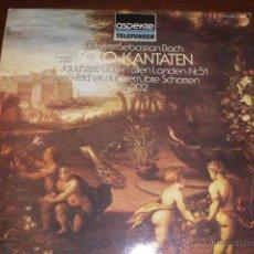Discos de vinilo: DISCO DE VINILO JOHAN SEBASTIAN BACH. CANTATAS A SOLO, CONCERTO AMSTERDAM. EN PERFECTO ESTADO. . Lote 46294973