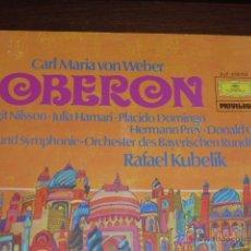 Discos de vinilo: DISCO DE VINILO OBERON, SE TRATA DE UN DOBLE LP CON LIBRETO QUE SE ENCUENTRA EN PERFECTO ESTADO. . Lote 46296541
