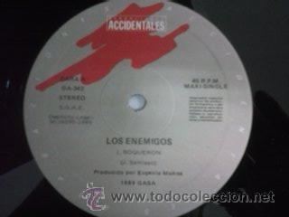 Discos de vinilo: Los Enemigos – Boqueron, Grabaciones Accidentales – GA-342, Maxi, Original Spain 1989 - Foto 3 - 46296849