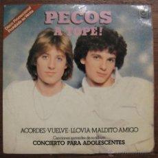 Discos de vinilo: LOS PECOS - EP PROMOCIONAL - ACORDES - VUELVE - LLOVIA - MALDITO AMIGO. Lote 46299170