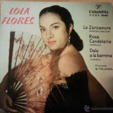 Discos de vinilo: LOLA FLORES LA ZARZAMORA + 3 EP COLUMBIA 1961. Lote 46300860