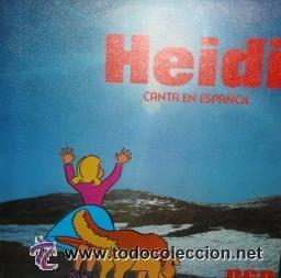 HEIDI CANTA EN ESPAÑOL - DIME ABUELITO / OYE SINGLE RCA DE 1975 (Música - Discos - Singles Vinilo - Música Infantil)