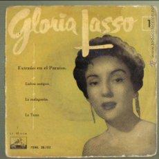 Discos de vinilo: GLORIA LASSO. EXTRAÑO EN EL PARAISO + 3. LA VOZ DE SU AMO. LITERACOMIC.. Lote 46307737
