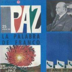 Discos de vinilo: LA PALABRA DE FRANCO. 25 AÑOS DE PAZ. LP. Lote 46308933