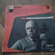 Discos de vinilo: 45TRS VINYL 7''/FRENCH EP PETITS CLASSIQUES POUR TOUS / PABLO PAU CASALS / SUPERBE. Lote 46312209