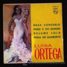 Discos de vinilo: LUISA ORTEGA - ROSA CONSUELO - 1966. Lote 46314231