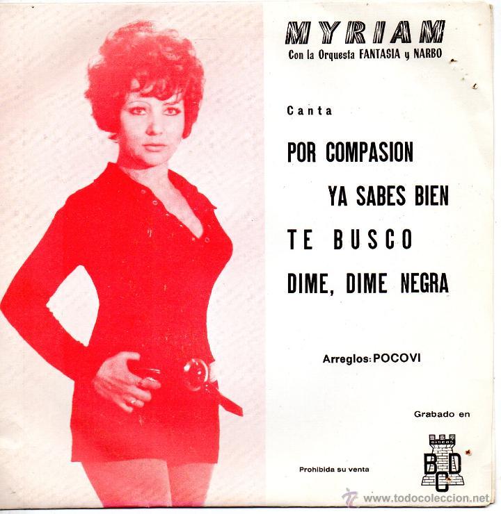 MYRIAM, EP, POR COMPASION + 3, AÑO 1971 (Música - Discos de Vinilo - EPs - Solistas Españoles de los 70 a la actualidad)