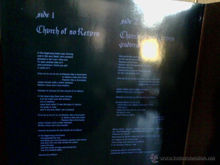 Discos de vinilo: CHRISTIAN DEATH ---- CHURCH OF NO RETURN - Foto 2 - 46327095