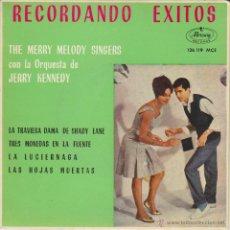 Discos de vinilo: THE MERRY MELODY SINGERS - LAS HOJAS MUERTAS - TRES MONEDAS EN LA FUENTE + 2 - EP SPAIN 1963 EX / EX. Lote 46331949