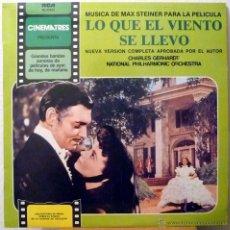 Discos de vinilo: LO QUE EL VIENTO SE LLEVO - CHARLES GERHARDT CON LA N.P.O (LP). Lote 49140829