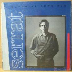 Discos de vinilo: JOAN MANUEL SERRAT - 'MATERIAL SENSIBLE' LP VINILO. ENCARTE CON LETRAS. ORIGINAL 1989. Lote 46335642