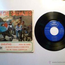 Discos de vinilo: LOS SALVAJES # LAS OVEJITAS / EP.HIMNO MOD 1967.. Lote 46336677