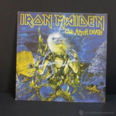 Discos de vinilo: DLP. IRON MAIDEN - LIVE AFTER DEATH (CON EL LIBRO). 1981 - 1ST PRESS ALEMANIA (BRD). Lote 46340298