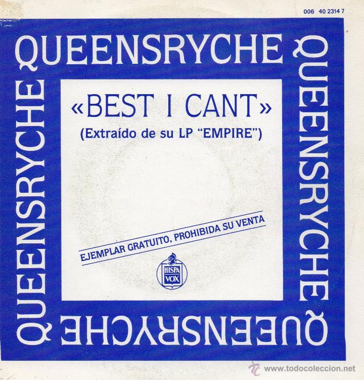 QUEENSRYCHE, SG, BEST I CANT + 1, AÑO 1990 (Música - Discos - Singles Vinilo - Pop - Rock Extranjero de los 90 a la actualidad)