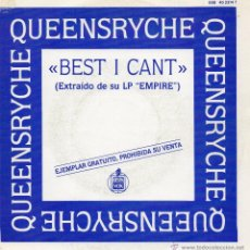Discos de vinilo: QUEENSRYCHE, SG, BEST I CANT + 1, AÑO 1990. Lote 46348602