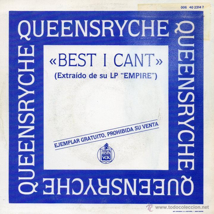 Discos de vinilo: QUEENSRYCHE, SG, BEST I CANT + 1, AÑO 1990 - Foto 2 - 46348602