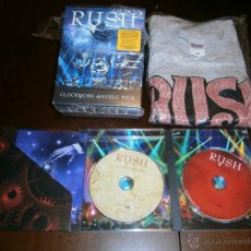 Discos de vinilo: RUSH - CLOCKWORK ANGELS - 2 DVD CON CAMISETA EXCLUSIVA - MOVING PICTURES - 2112. Lote 46351191
