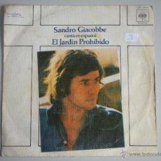 Discos de vinilo: MAGNIFICO SINGLE DE - SANDRO GIACOBBE -. Lote 46360350