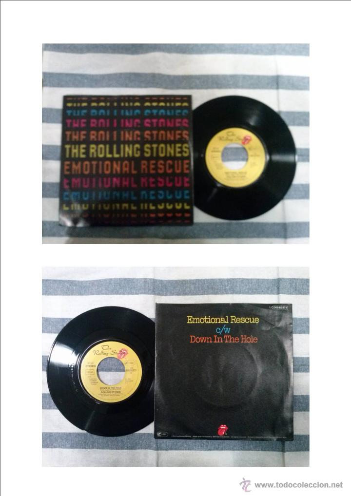 THE ROLLING STONES- EMOTIONAL RESCUE/ DOWN IN THE HOLE.......GERMANY (Música - Discos - Singles Vinilo - Pop - Rock - Extranjero de los 70)