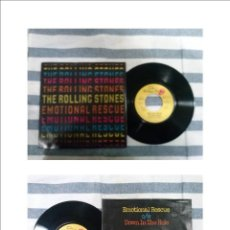 Discos de vinilo: THE ROLLING STONES- EMOTIONAL RESCUE/ DOWN IN THE HOLE.......GERMANY. Lote 46365446