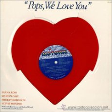 Discos de vinilo: DIANA ROSS,MARVIN GAYE,SMOKEY ROBINSON & STEVIE WONDER / POPS, WE LOVE YOU / ULTRA RARO PICTURE DISC. Lote 46366702