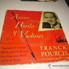 Discos de vinilo: DISCO CHICO 7 AMOR BAILE Y VIOLINES FRANCK POURCEL Nº 6 MADEMOISELLE PARIS ETC. Lote 46367744