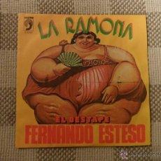 Discos de vinilo: SINGLE. LA RAMONA. EL DESTAPE. FERNANDO ESTESO. 1976. Lote 46368268