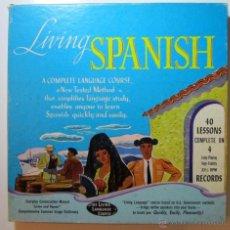 Discos de vinilo: LIVING SPANISH 1955. CURSO DE ESPAÑOL. NEW YORK USA. Lote 46372275