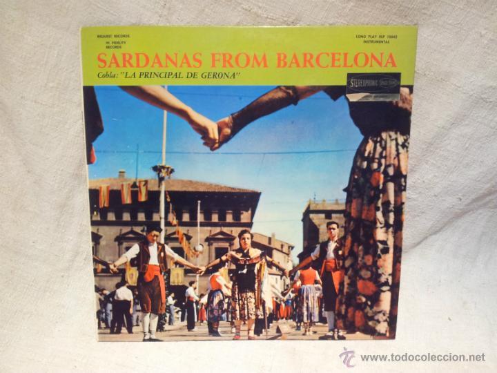 SARDANAS FROM BARCELONA - COBLA LA PRINCIPAL DE GIRONA (LP) AÑO ?? - DISCO MADE IN USA (Música - Discos - LP Vinilo - Étnicas y Músicas del Mundo)