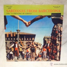 Discos de vinilo: SARDANAS FROM BARCELONA - COBLA LA PRINCIPAL DE GIRONA (LP) AÑO ?? - DISCO MADE IN USA . Lote 46379515